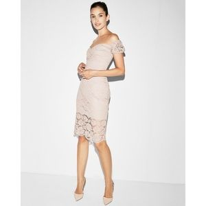 New Express Off The Shoulder Lace Sheath Dress 00